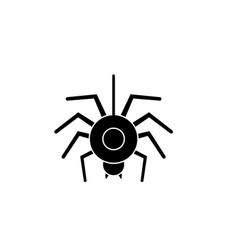 spider black icon sign on isolated vector image