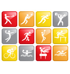 Sport competition icons vector