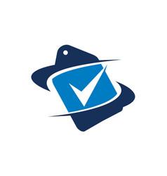 Tag shipping verified vector