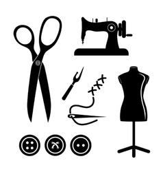 Tailor shop design vector image
