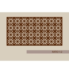 template pattern for decorative panel vector image