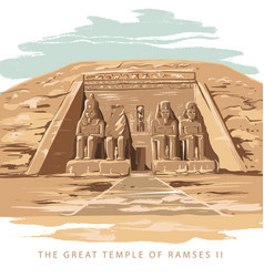 The great temple at abu simbel egypt vector