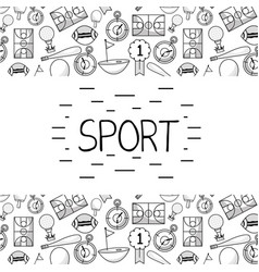 Tools of different sports games vector