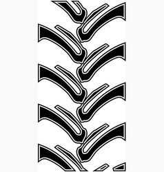 Tractor track pattern vector