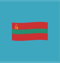 transnistria flag icon in flat design vector image