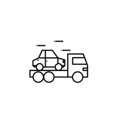 Truck car icon can be used for web logo mobile vector