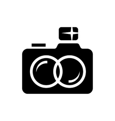 Wedding camera simple icon vector