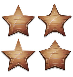 wood stars icons for ui game vector image