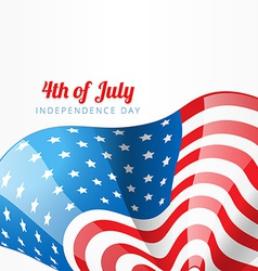 american flag style design vector image