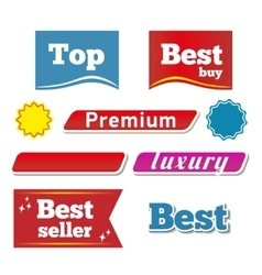 Banners and botton vector image