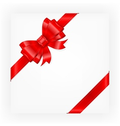 big red gift bow vector image