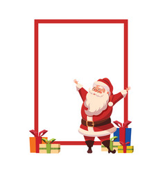 design for xmas poster with christmas santa claus vector image
