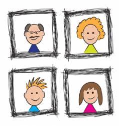 family portrait sketch vector image
