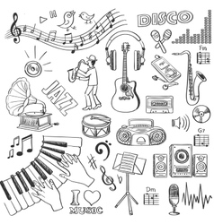 Hand drawn music vector image vector image