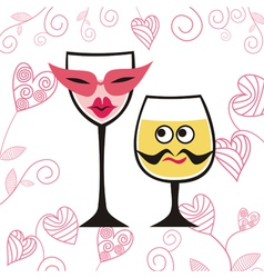 Party glasses cartoon vector image vector image