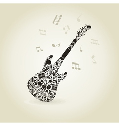 Art a guitar vector image