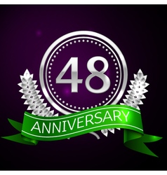 Forty eight years anniversary celebration with vector image vector image