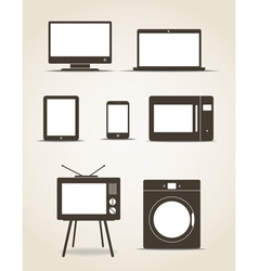 gadgets and kitchen technics vector image vector image
