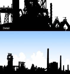 industrial skyline vector image vector image