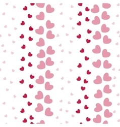 Seamless Pattern with Heart Bands vector image vector image