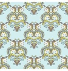 seamless vintage damask luxury pattern vector image