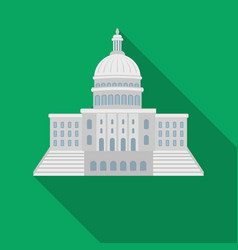 united states capitol icon in flate style isolated vector image