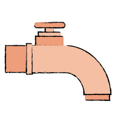 water tap isolated icon vector image vector image