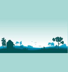 Blue landscape vector
