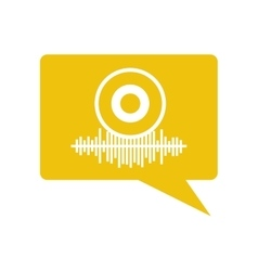 equalizer audio isolated icon vector image vector image