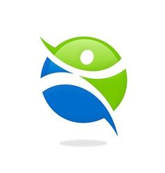 Fitness people sport icon logo vector