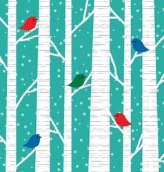 Birch trees vector