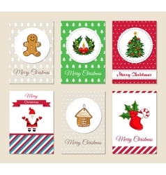 Christmas Greeting Cards and Invitations Set vector image vector image
