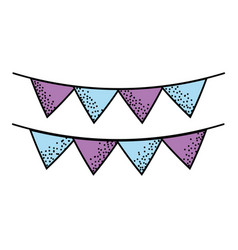 cute party flag decoration design vector image vector image