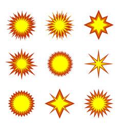 explosion icon set vector image