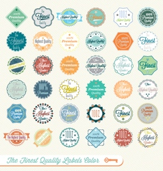 Finest Quality Labels Color vector image
