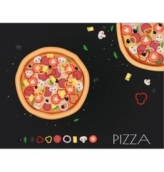 Pizza restaurant menu Ingredients for cafe vector image vector image