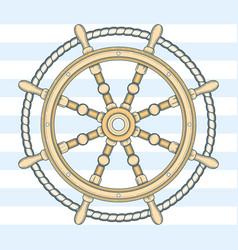 vintage steering wheel vector image vector image