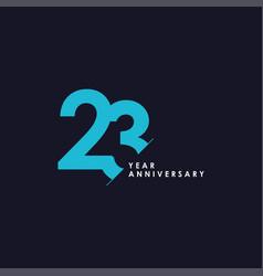 23 years anniversary template design vector