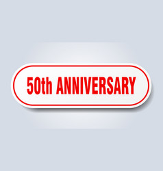 50th anniversary sign rounded isolated button vector