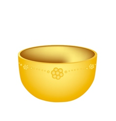 A Luxury Golden Bowl on White Background vector