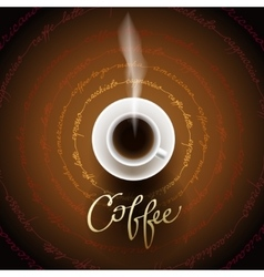 Abstract coffee design vector