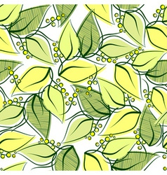 Abstract seamless spring pattern vector