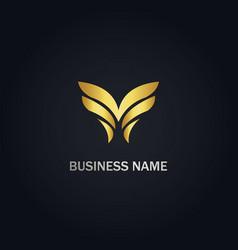 abstract wing company logo vector image