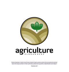 Agriculture logo concept nature farm logo design vector