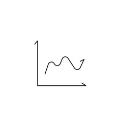 analytics wave icon vector image