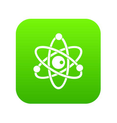 atomic model icon digital green vector image