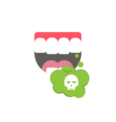 bad smells isolated art on white background vector image