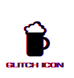Beer icon flat vector