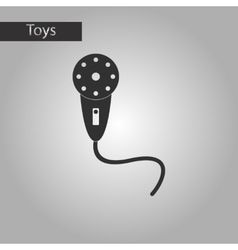Black and white style toy microphone vector