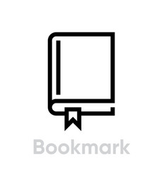 Bookmark icon editable outline vector